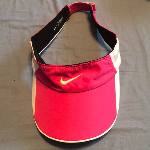 a2bb29857aa69 Women's Nike running visor pink white visor hat.  M_5c38cdd404e33df86f066b4f. Other Accessories ...